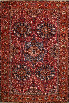 "Bakhtiari Persian Rug 10' 0"" x 15' 1"", Authentic Bakhtiari Handmade Rug"