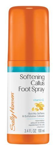 Sally Hansen Pedicure Collection, Callus Softening Foot Spray, 3.4 Ounce by Sally Hansen. $4.50. Targeted treatment designed to correct and care for cracked heels and callused feet. The perfect pedicure starts with beautiful feet. Hands-free. Hands-free formula that moisturizes and conditions stubborn, rough skin for healthy, beautiful feet.