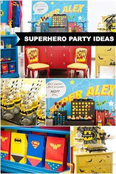 superhero birthday party ideaswww.spaceshipsandlaserbeams.com