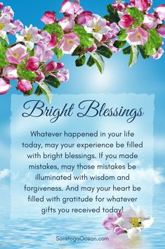 Here is a blessing for you that you can also share with those you care about. May you embrace your life today with love and appreciation. May you let go of whatever didn't work, and embrace the things that brought you some measure of happiness. And may you have a beautiful evening of peaceful relaxation! <3
