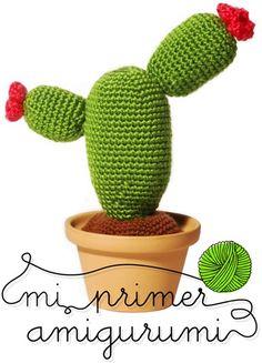 curso online de amigurumi se empieza desde cero no es necesario tener conocimiento previo de ganchillo. Cuando termines el curso habrás hecho este cactus.