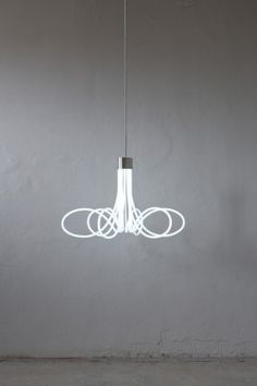Neon Chandelier by Boa Design Studio: At once classic and fresh.