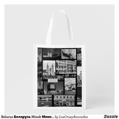 Belarus Беларусь Minsk Минск City Architecture Grocery Bag