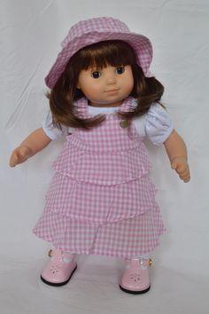 DollsHobbiesNmore (SULTANA ENTERPRISES LLC) - PINK GINGHAM DRESS WITH WHITE TSHIRT AND HAT, $15.00 (http://www.dollshobbiesnmore.net/bitty-twins-bitty-baby/bitty-twins-girls-outfits/pink-gingham-dress-with-white-tshirt-and-hat/)