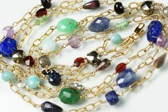 Three layered MultiGemstone Necklace with by MarionTheisJewelry, $289.00