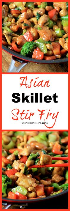 Asian Skillet Stir Fry by Noshing With The Nolands is brimming with delicious veggies prepared in a remarkable non-stick Circulon pan. We also have a giveaway for two of these gorgeous pans! Asian Recipes, Healthy Recipes, Ethnic Recipes, Oriental Recipes, Asian Foods, Chinese Recipes, Eat Healthy, Healthy Meals, Free Recipes