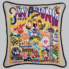 State Pillows: San Antonio Pillow