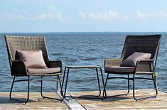 Henryka 3-Piece Bistro Set with Cushions and Toss Cushions | The Home Depot Canada