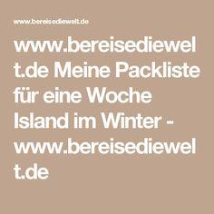 www.bereisediewelt.de Meine Packliste für eine Woche Island im Winter - www.bereisediewelt.de