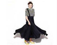 Single-strap suspender skirt