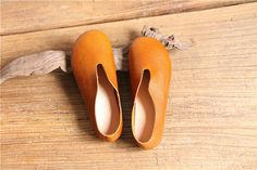 Handmade Women ShoesOxford Shoes Flat Shoes Retro Leather