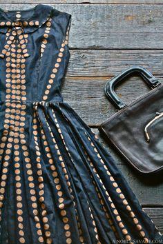 Dress and bag. Gorgeous print!