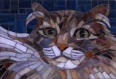 stained glass cat mosaic♥•♥•♥