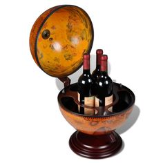 World Map Globe Bar TableTop Wine Liquor Storage Drink Racks Table Stand New in…