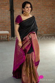 Pattu Saree Blouse Designs, Designer Blouse Patterns, Fancy Blouse Designs, Blouse For Silk Saree, Latest Silk Sarees, Stylish Blouse Design, Saree Trends, Saree Models, Stylish Sarees