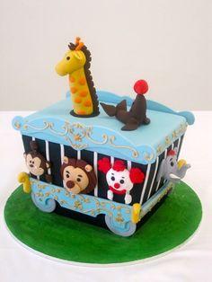 circus train car cake