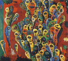 Gunter Damisch, Cascade of Heads, © Sammlung Leopold II, Wien, Inv. Abstract Art Images, Museum, Gustav Klimt, Natural World, Art History, Art Nouveau, Contemporary, Illustration, Artwork