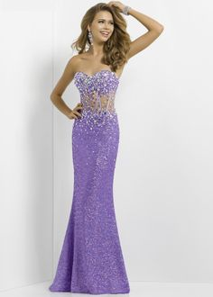 Blush Prom 9705 - Lavender Sequin Strapless Prom Dresses Online #thepromdresses #promidea #promhairstyles #promnails #prommakeup prom dress prom nails prom hair prom idea prom makeup