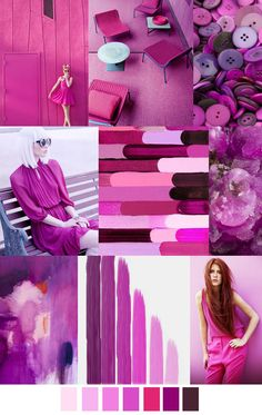 Shades of FUCHSIA PINK VIOLET