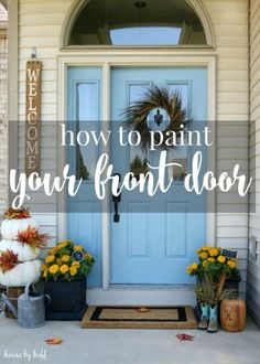 How to Paint Your Front Door via House by Hoff