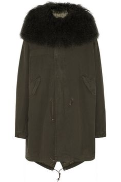MR & MRS ITALY | Shearling-trimmed cotton-canvas parka | NET-A-PORTER.COM