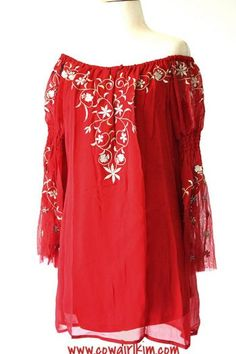 """Vintage Collection """"Ruby"""" Embroidered Tunic from Cowgirl Kim"""