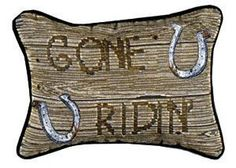 Gone Ridin' Western Decorative Tapestry Pillow