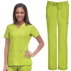 code happy with Antimicrobial and Fluid Barrier Certainty Plus Women's V-Neck Top & Low Rise Pant Set National Nurses Week, Phlebotomy, Scrub Sets, V Neck Tops, Scrubs, Medical, Coding, Unisex, Celebrities