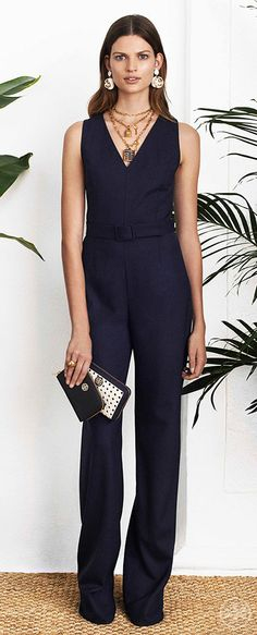 Turn heads in an evening-ready jumpsuit | Tory Burch Spring 2014
