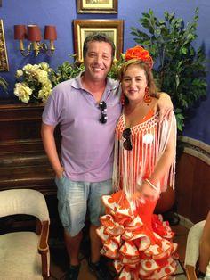 Con mi esposa en la feria real de Priego de Córdoba