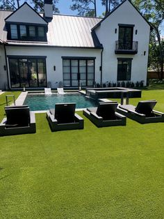 Our artificial lawns will exceed your expectations! We offer professional installation of turf backyards, fake lawns and more! Fake Lawn, Fake Grass, No Grass Backyard, Backyard Garden Design, Backyard Ideas, Perfect Image, Perfect Photo, Cool Pictures, Cool Photos
