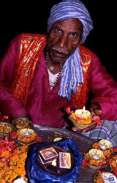 Prayers on the Ghats, Varanasi, India