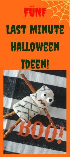 Kinderleichte und einfache Anleitung für fünf schnelle DYI Ideen für Halloween. Halloweenparty