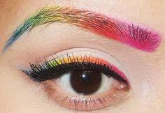 Rainbow Eyeliner & Eyebrows