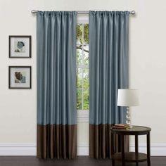 rideaux de luxe en bleu et marron