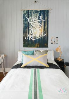 Take a look at this fabulous room by Petite Vintage Interiors for some seriously great teen boy room inspiration. Boys Bedroom Ideas 8 Year Old, Kids Bedroom, Master Bedroom, Toddler Rooms, Kids Rooms, Room To Grow, Vintage Interiors, Room Tour, Fashion Room