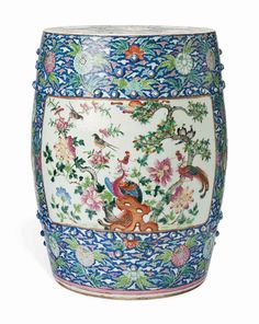 Charmant A CHINESE FAMILLE ROSE YELLOW GROUND GARDEN SEAT | 19TH CENTURY | Interiors  Auction |