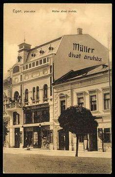 Eger, Müller divatáruház. Piac utca - ma Bajcsy-Zsilinszky Endre utca 3.sz. volt Napsugár Áruház | Képcsarnok | Hungaricana