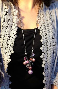 like the lacey look  long necklace!