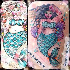 https://www.facebook.com/VorssaInk/, http://tattoosbykata.blogspot.com, #tattoo #tatuointi #katapuupponen #vorssaink #forssa #finland #traditionaltattoo #suomi #oldschool #pinup #umbrella #mermaid