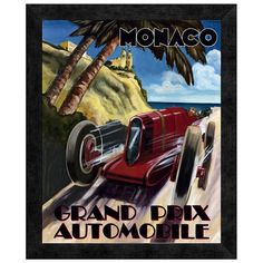 Monaco Grand Prix Framed Print - Father's Day Gift Guide on Joss and Main