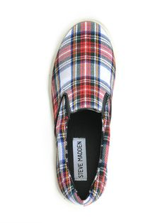 Plaid slip on