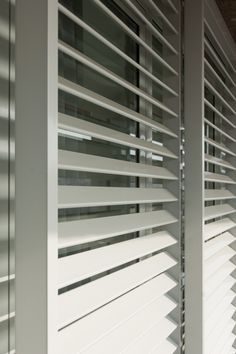 Like any other home decor, exterior shutters also need cleaning to maintain their aesthetic integrity. Patio Door Shutters, Interior Shutters, Window Grill Design, Roof Design, Exterior Design, Patio Door Coverings, Window Coverings, Front Doors With Windows, House Windows