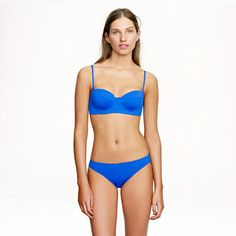 My new favorite swim look from Jcrew! Perfect for my island getaway....I want to be as blue as the water there.  Italian matte underwire bikini swim - Women - J.Crew
