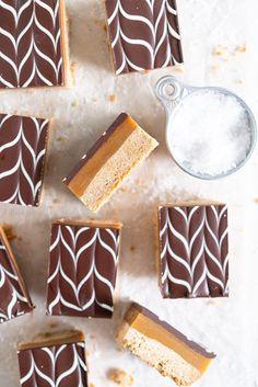 Brown Butter Salted Caramel Slice Funnel Cakes, Sorbet, Cake Pops, Biscotti, Salted Caramel Slice, Dessert Crepes, Dessert Bars, Apple Cinnamon Rolls, Swiss Meringue Buttercream