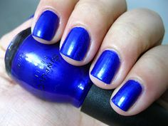 Can you say bright blue? Sinful Colors - Let's Talk