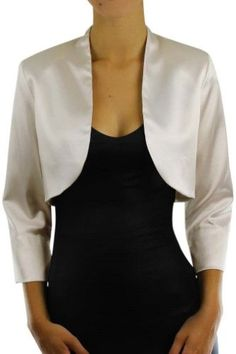 Short Sleeve Dressy Satin Bolero Shrug Jacket – Luxury Divas ...