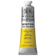Winsor & Newton® Winton Oil Colour™ Tube, 37 ml Paint in Cadmium Yellow Pale Hue Oz Series, Windsor Newton, Titanium White, Oil Painters, Michael Store, Buy Fabric, Lemon Yellow, Cool Paintings
