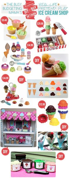 The Busy Budgeting Mama: My Christmas DIY or BUY Gift Guide: Real-Life Pretend Play Gift Ideas... CATEGORY: ICE CREAM THEME