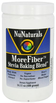 I want to try this, it's a stevia sweetened sugar substitute, that adds fiber as some of the bulk that would be missing with just stevia...